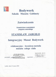 Integracyjny masaz body work